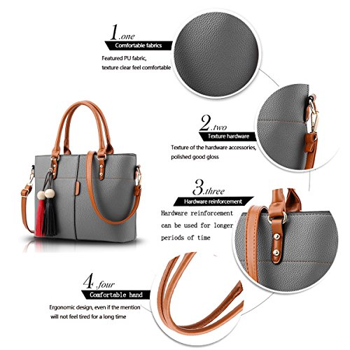 stitching gray pack diagonal fashion retro wallet cross Tisdaini Women Dark handbags handbag tassel shoulder TqOTSI8