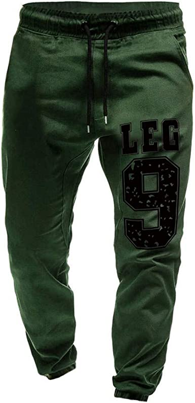 Mens Fitness Jogger Pants Drawstring Casual Gym Sports Trousers Sweatpants S-3XL