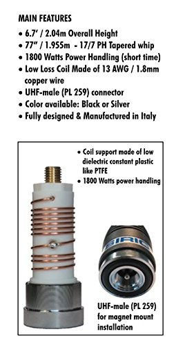 Sirio Megawatt 4000 Rigid Mobile CB/HAM Mobile Antenna (Black)