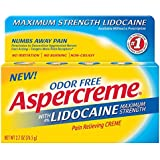 Aspercreme Pain Relieving Creme With Lidocaine, 2.7 Ounce, Pain Relieving Cream Helps Reduce and Numb Pain from Arthritis, Backache, Muscle Strains and Sprains