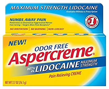 Aspercreme Pain Relieving Creme With Lidocaine, 2 7 Ounce, Pain Relieving  Cream Helps Reduce