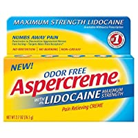 Aspercreme Pain Relieving Creme With Lidocaine, 2.7 Ounce, Pain Relieving Cream...