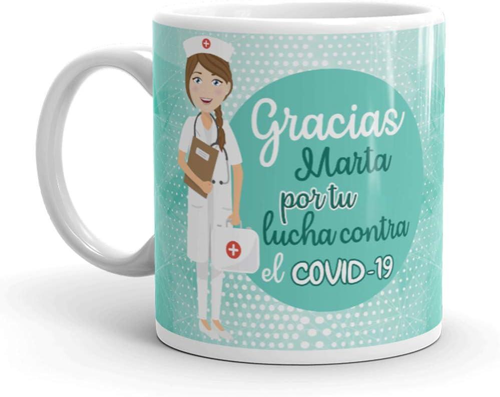 Kembilove. Tazas Desayuno Originales Personalizadas para Enfermera – Taza de café de Agradecimiento para Enfermeras Que lucharon en Ayudar a la Gente – Regalos Originales de Enfermera