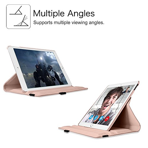 Fintie iPad mini 4 Case - 360 Degree Rotating Stand Case with Smart Cover Auto Sleep / Wake Feature for Apple iPad mini 4 (2015 Release), Rose Gold Photo #9