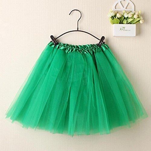 Tissu Style Couches en en Jupe Lasticit Vert LULIKA Femmes Organza Jupe Jupe Dentelle Mode Mini Denim Doux Ballet Tutu Wn0I0zfH