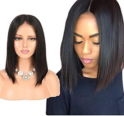Amazon Com Nobel Hair Human Hair Lace Front Wigs For Black Women