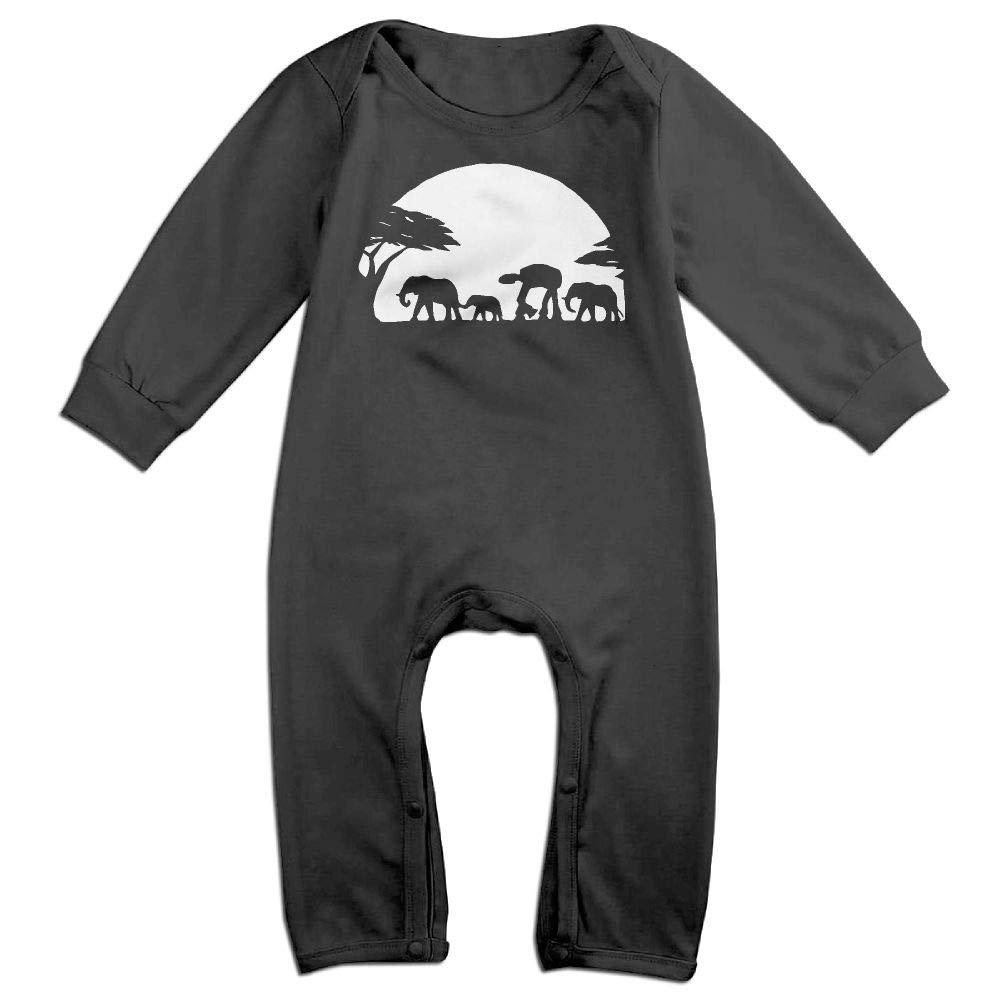 UGFGF-S3 Walking Africa Sunset Long Sleeve Infant Baby Unisex Baby Bodysuit for 6-24 Months Bodysuit