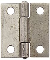 "Stanley Hardware 838 1-1/2"" Narrow Utility Hinge Non-Removable Pin in Plain Steel"