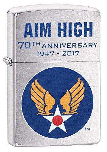 Zippo Hap Arnold Wings Brushed Chrome Pocket Lighter