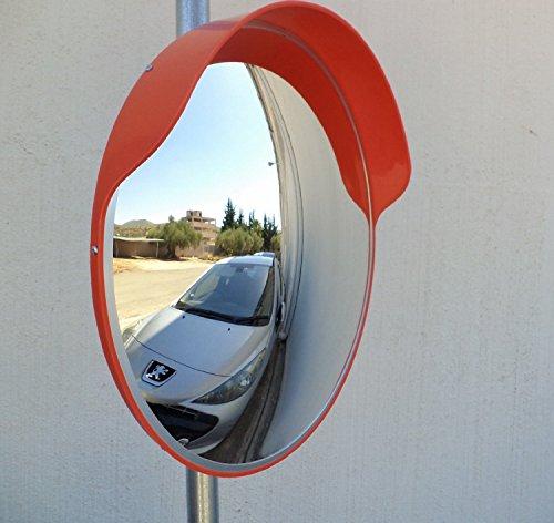 ECM-60-o Convex polycarbonate traffic mirror, Orange color, diameter 24