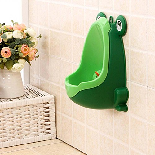 (Comcl Frog Children Potty Toilet Training Kid Urinal for Boy Pee Trainer Bathroom Green)