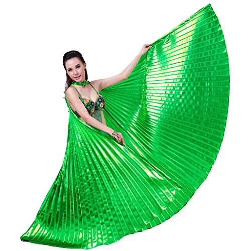 Pilot-trade Women's Professional Belly Dance Costume Angle Isis Wings No Stick Green ()