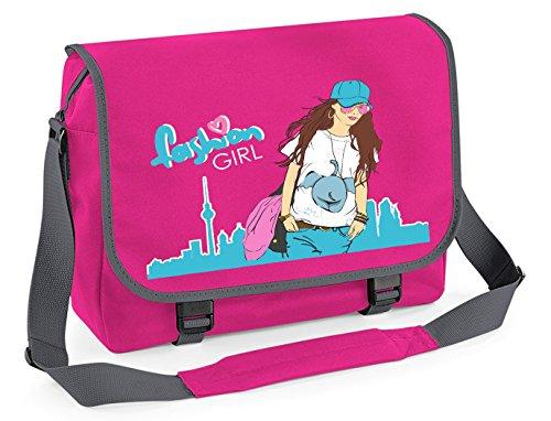 Mein Zwergenland Messenger Bag Fashion Girl, 14 L, Purple Fuchsia