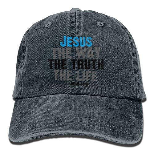 hanbaozhou Gorras béisbol The Way The Truth The Life Jesus 1 Denim Hat Adjustable Men Cute Baseball Cap