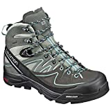 Salomon Women's X Alp Mid Leather GTX Shadow/Castor Gray/Aruba BLU 7 & Bottle