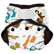 Best Bottom Cloth Diaper Shell-Hook and Loop, Fox Trot