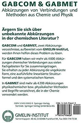 Gabcom Gabmet Abk Rzungen Von Verbindungen Und Methoden