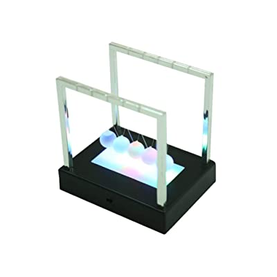 BESPORTBLE Newton Cradle Steel Balance Ball with Base Physics Science Pendulum for Home Office Physics Teacher Toys Father Day Gift 15x11.5x15cm Black: Health & Personal Care