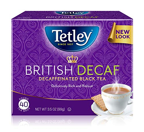 (Tetley Premium Black Tea, Decaffeinated British Blend, 40 Tea Bags (Pack of 6) )