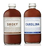 Lillie's Q Barbeque Sauce- CAROLINA 20 oz & Barbeque Sauce- SMOKY 21 oz (Pack of 2)