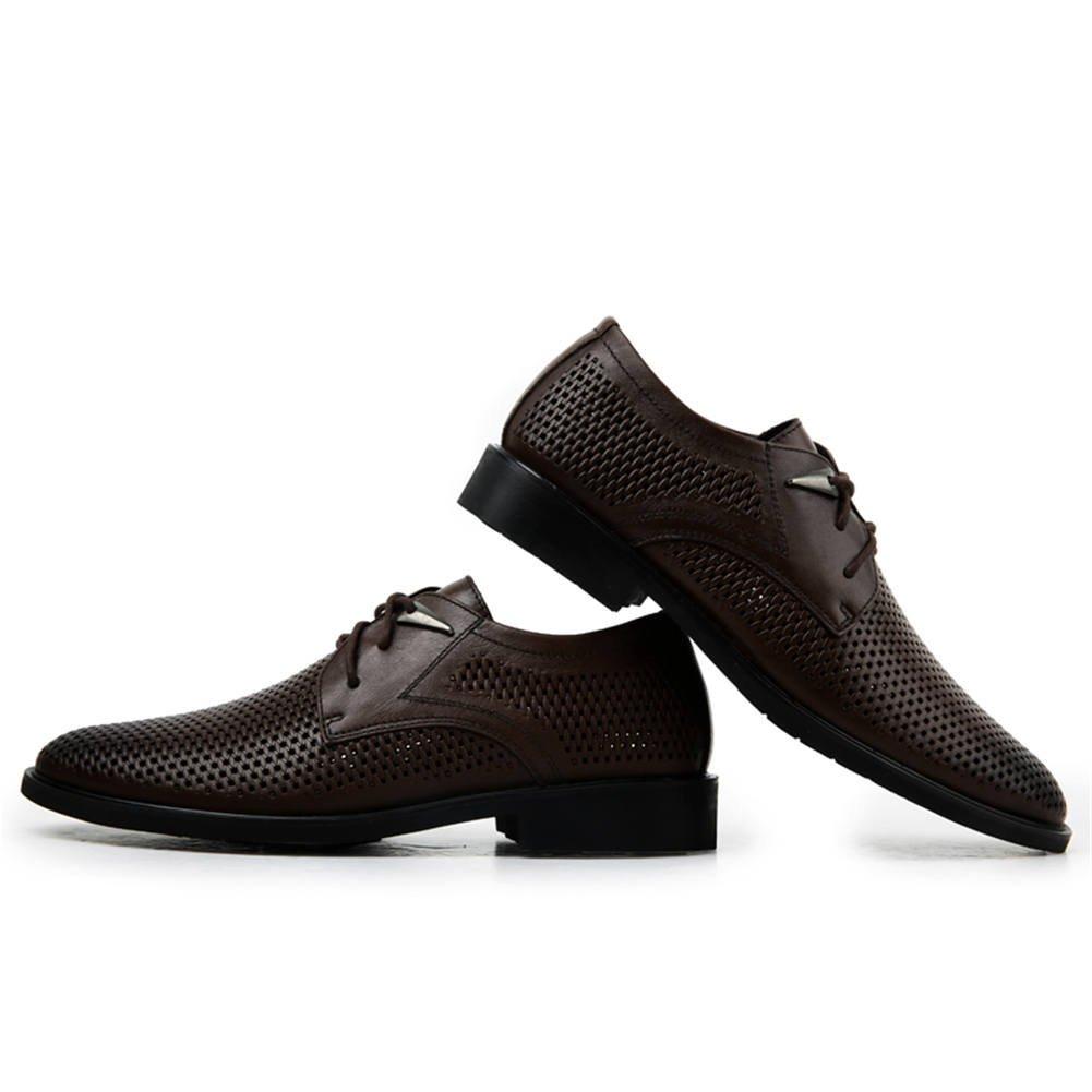 ailishabroy Hommes Mousses Respirantes d/ét/é Hommes Chaussures de /à Lacets Bureau /à Encolure en Cuir v/éritable