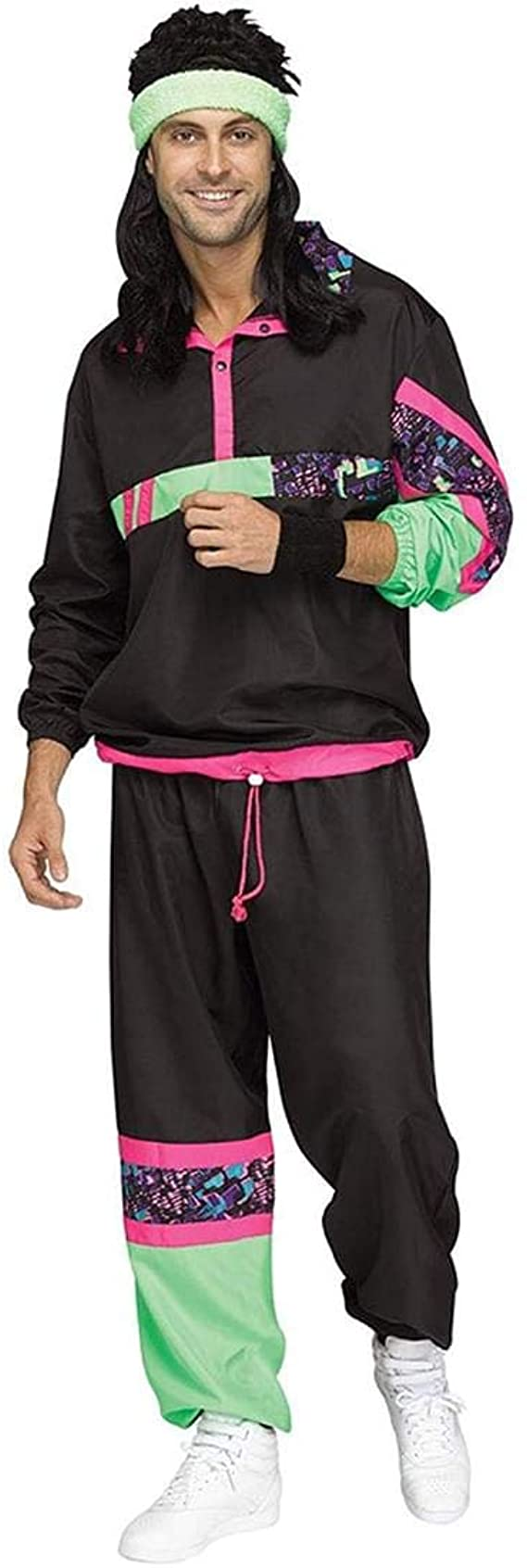 80s Costumes, Outfit Ideas- Girls and Guys Fun World 80s Male Track Suit Adult Costume $34.51 AT vintagedancer.com