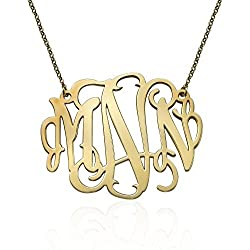 Statement Monogram Necklace