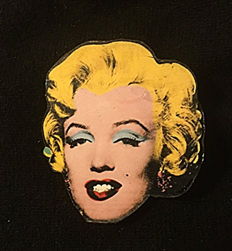 Marilyn Pin Brooch Handcrafted Wood Jewelry, Andy Warhol American Pop Art Lover Gift Monroe Portrait Jewelry Artist Card Americana Hollywood (Andy Warhol Ornaments)