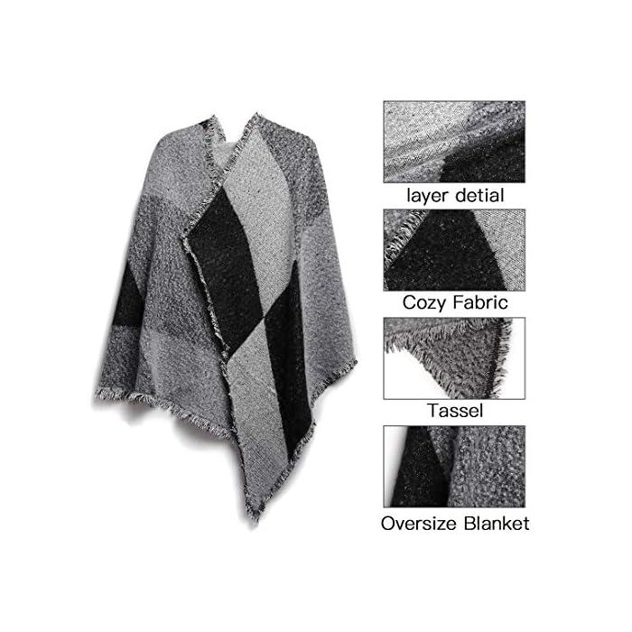 51vGM8iR0BL Elegante invierno cálido manta larga bufanda precioso chal de abrigo. Dimensiones del producto (CM): Longitud: 200, Ancho: 67; Material: 90% acrílico, 10% lana. Esta acogedora bufanda es perfecta para el clima frío y es una excelente compañera de otoño para tu guardarropa de otoño e invierno. 90% Acrílico, 10% Lana