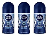 Nivea for Men Deodorant Roll On 50ml (Cool Kick) - 3 pack