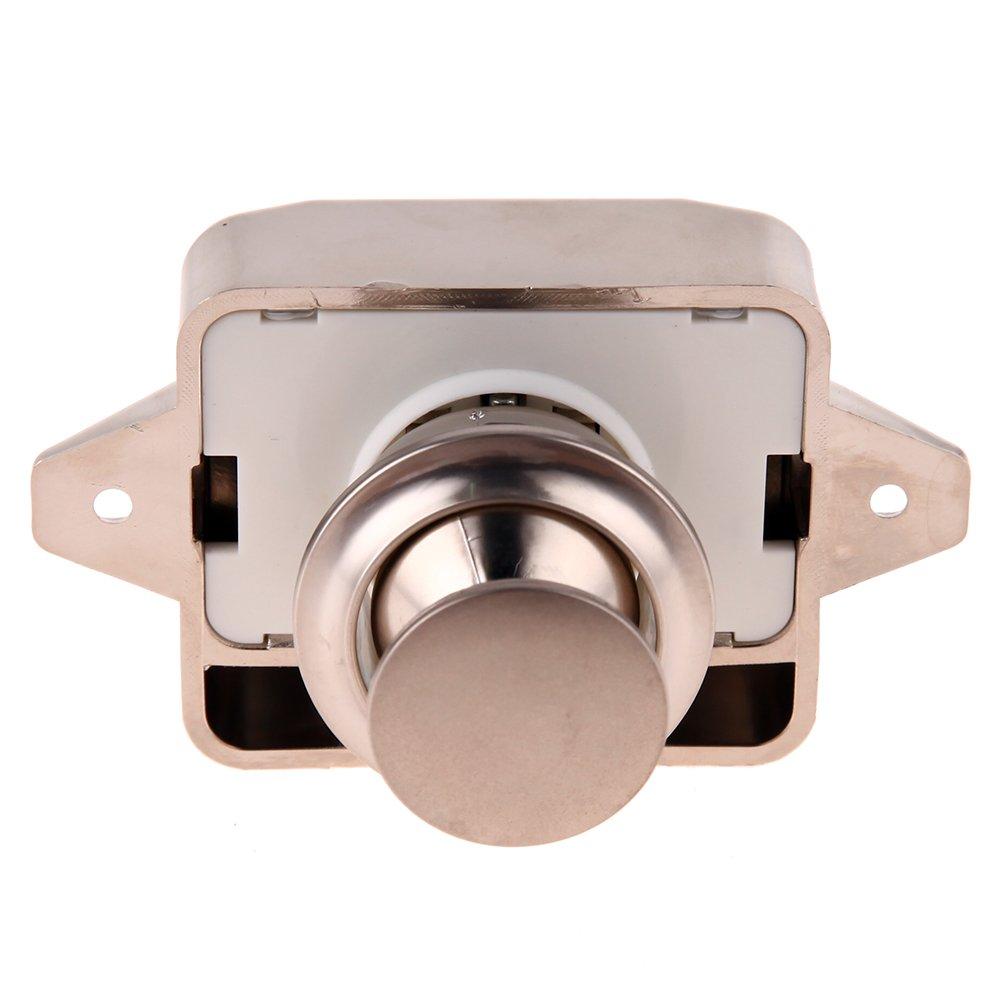 Everpert Push Lock Button Catch Lock Cupboard Door Knob Motorhome RV Cabinet(Gold)