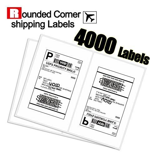 UPC 602258054301, MFLABEL 4000 Round Conrner Half sheet Shipping Labels 2-UP Click-n-Ship Mailing Postage Labels