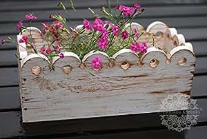 """'mano madera flores töpf Jardinera Balcón Buzón """"punta 46cm"""