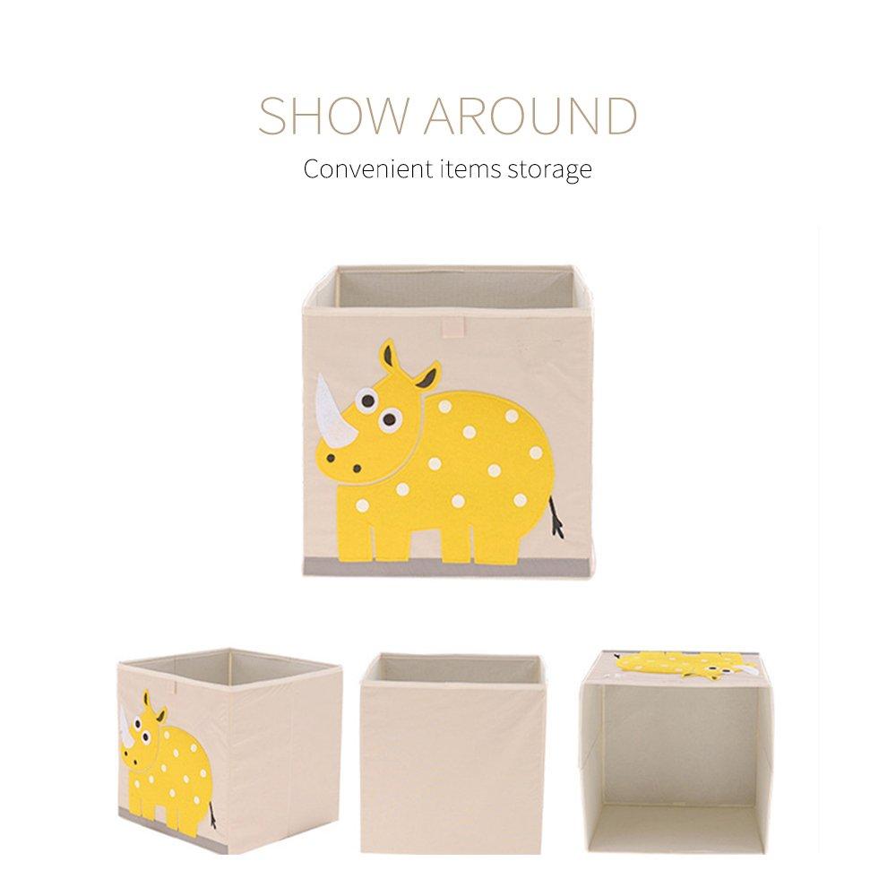 Harson/&Jane Dessin Anim/é de Tissu de Stockage danimal de Jouet de Toile de Cube de Polyester pour des Enfants Abeilles Jaunes