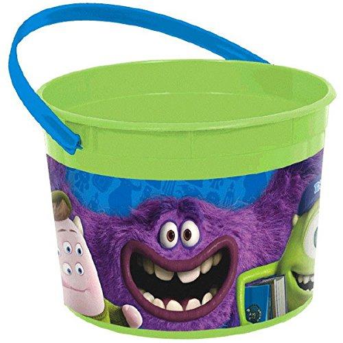 Amscan Monsterrific Disney Monsters University Party Favor Plastic Cup, 16 oz, Green/Blue -