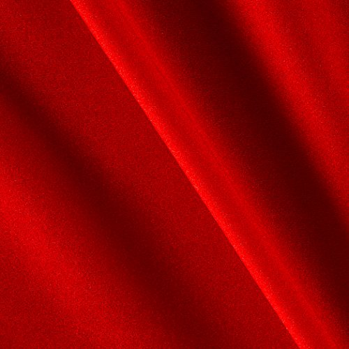 Ben Textiles 0450616 Nylon Lycra Spandex Athletic Knit Solid Red Fabric by The Yard