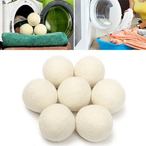 8pcs Wool Dryer Reusable Natrual Fabric Softener Balls for Clothes Drying Machine - Janitorial & Sanitation Supplies Laundry Products - 8 x Maker Fluff Ball Weaver