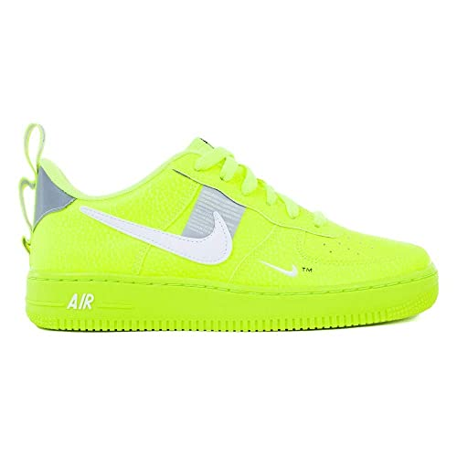 official photos e1fc4 890e5 Nike, Bambino, Air Force 1 LV8 Utility, Pelle, Sneakers, Giallo  Amazon.it   Scarpe e borse