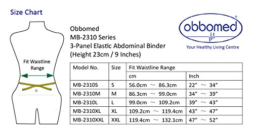 Obbomed Mb 2310nm 3 Panel Elastic Postpartum Lightweight Girdle Postoperative Abdominal Binder Injuries Support Post Pregnancy Post Surgical