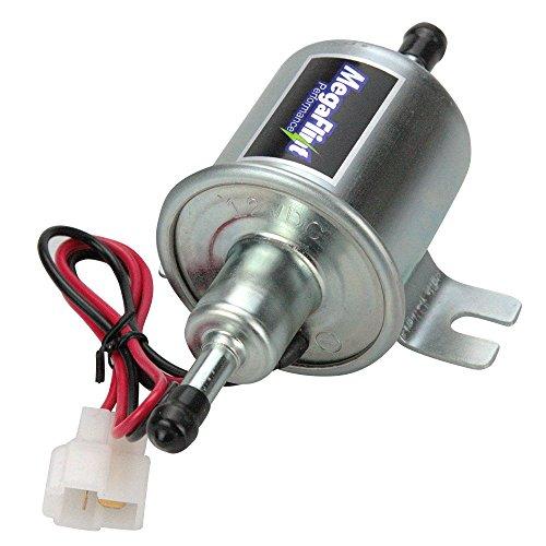 MegaFlint Universal 12V Low Pressure PSI Gas Diesel Inline Electric Fuel Pump HEP-02A (4-7 PSI) - Electric Gas Pump