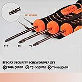 TECKMAN 10 in 1 Torx Screwdriver Set with T3 T4