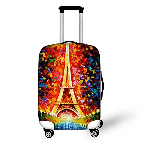 FOR U DESIGNS 22-26 Inch Middle Classic Shiny London Style Travel Luggage Case Cover Dustproof Protector