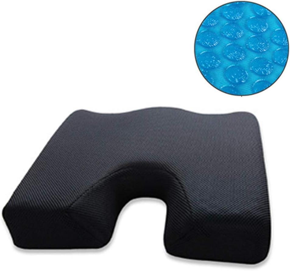 Asiento ortopédico con cojín de gel de espuma de memoria para tratamiento de nervio ciático, hemorroides, dolor de espalda | Para el hogar, automóvil, silla de oficina, asiento de silla de ruedas