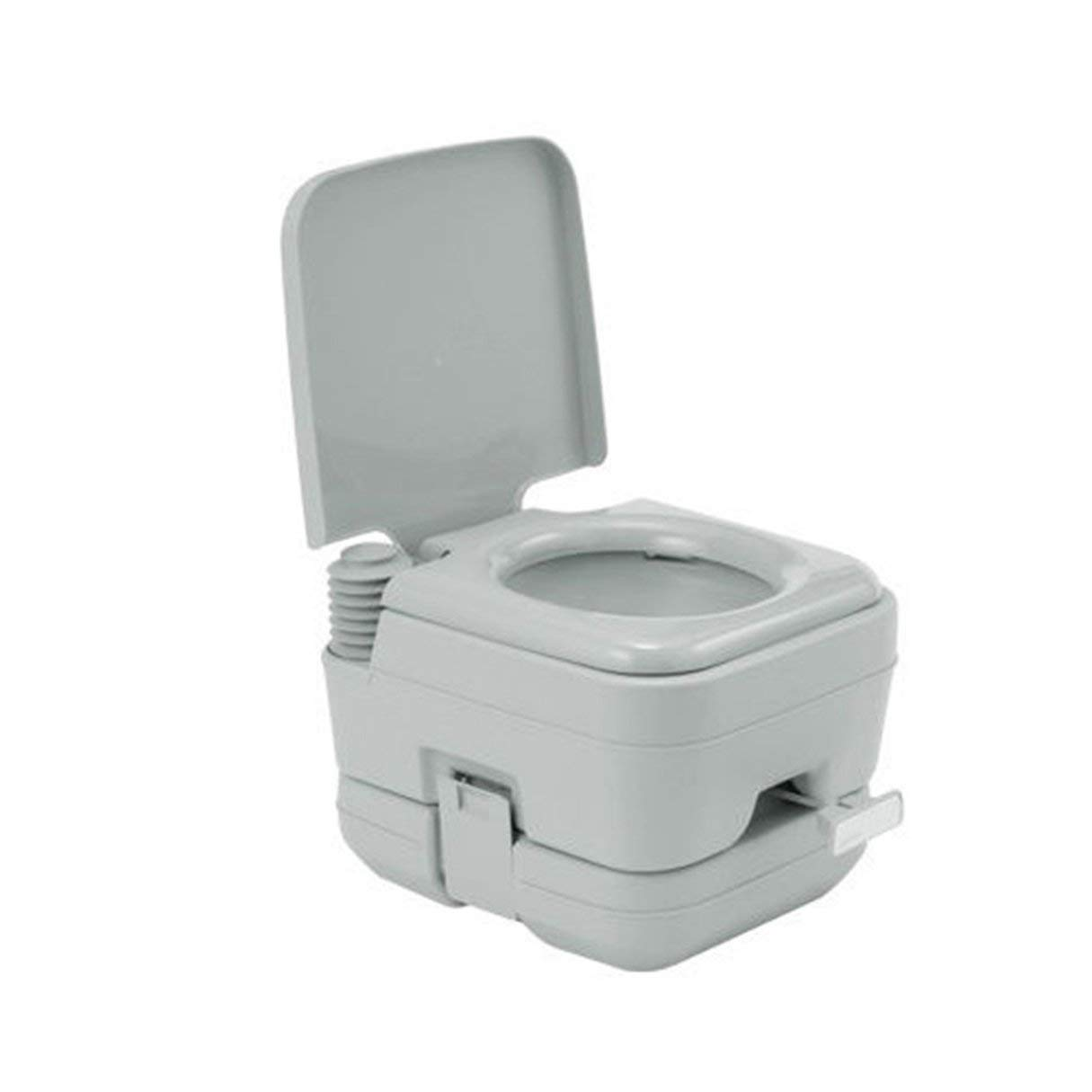 EmNarsissus 10L Square Flushing Töpfchen Tragbare Toilette Chemical Loo Camping Outdoor (Weiß)