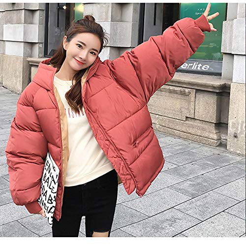 da le rosso donna con peluche Giacca per e cotone impermeabile a in lunga cappuccio in Tuta donne manica Amuster UBP08nqSP