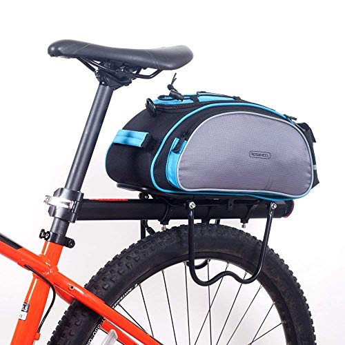 Rack Bicycle Seat Capacity Large Cargo Rack Trunk Black Outdoor Luggage 13L Bag Rear t1gxF