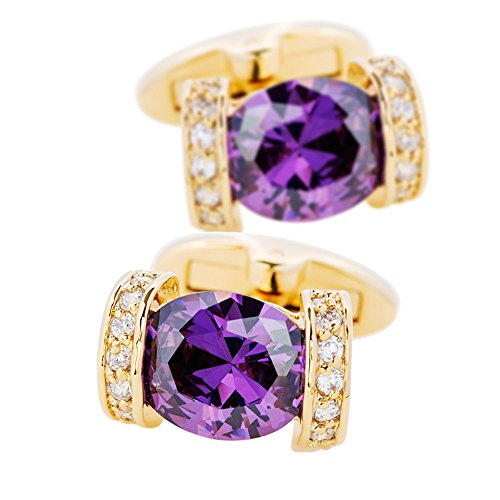 KFLK Purple Cufflinks With Stone