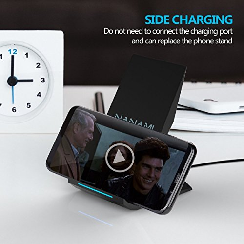 Fast Wireless Charger, NANAMI Qi Certified Charger Wireless Charging Stand for Samsung Note8, iPhone 8/8 Plus, iPhone X, Galaxy S9 S9 Plus S8 S8+ S7 S7 Edge Note 5 S6 Edge+ and All Qi-Enabled Devices by NANAMI (Image #5)