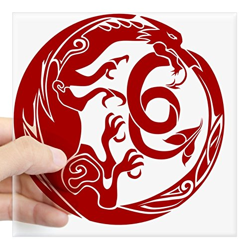 (CafePress Welsh Dragon Square Sticker 3