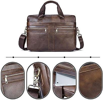 23dffb1063 Borsa a Tracolla messenger in Vera Pelle Per laptop da 14 pollici ...